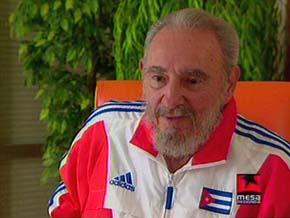 Fidel Castro comparece en la TV Cubana