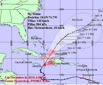 Activadas la Radio y la TV cubanas con motivo del huracán Tomás