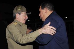 Partió Hugo Chávez hacia Venezuela