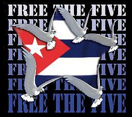 Afiches y carteles:  Solidaridad con la causa de Los Cinco