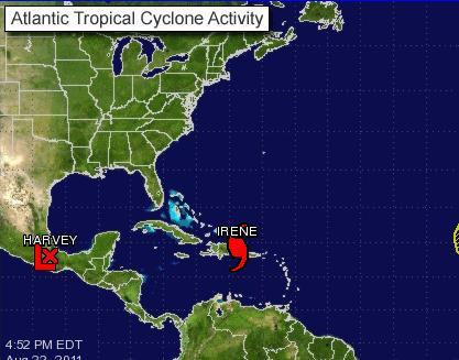 Aviso de Ciclón Tropical: Irene amenaza las Bahamas orientales...