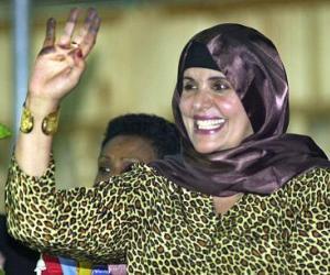 Arribaron a Argelia la esposa de Gadafi y tres hijos