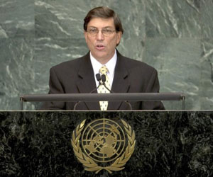 Canciller Bruno Rodríguez: Palestina debe estar en ONU, con veto de EEUU o sin él (+ Video)