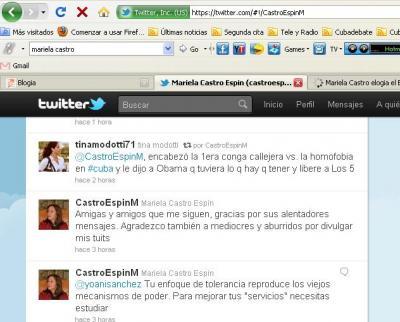 Mariela Castro abre cuenta en Twitter