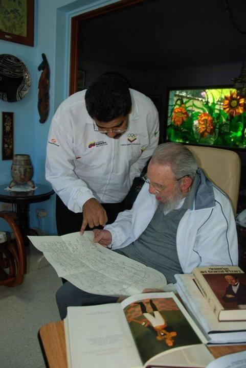 Recibió Fidel a Nicolás Maduro en ocasión del aniversario de primer viaje de Chávez a #Cuba