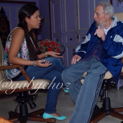 Fidel no olvida a sus amigos, afirma hija de Chávez