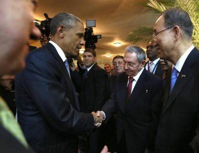 #Cuba Saludo de Raúl y Obama en la inauguración de la Cumbre de las Américas
