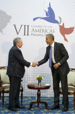 Se reúnen Raúl Castro y Barack Obama en VII Cumbre de las Américas (+Fotos)