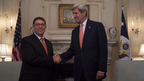 #CubaUS Bruno Rodríguez y John Kerry: Respeto e igualdad soberana, tono del encuentro (+ Fotos)