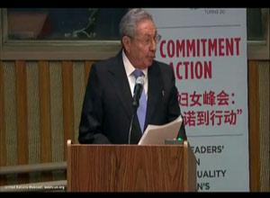 #Cuba Aboga Raúl Castro en ONU por igualdad de género y el empoderamiento de la mujer