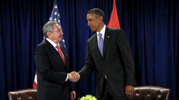 Se reúnen Raúl y Obama en la sede de Naciones Unidas (+ Fotos y Video)