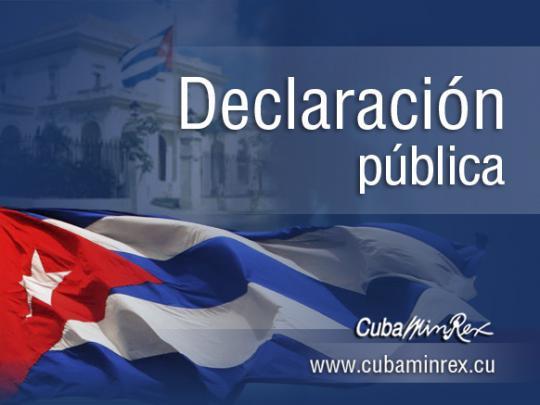 #Cuba Declaración del Director General de Asuntos Bilaterales del MINREX