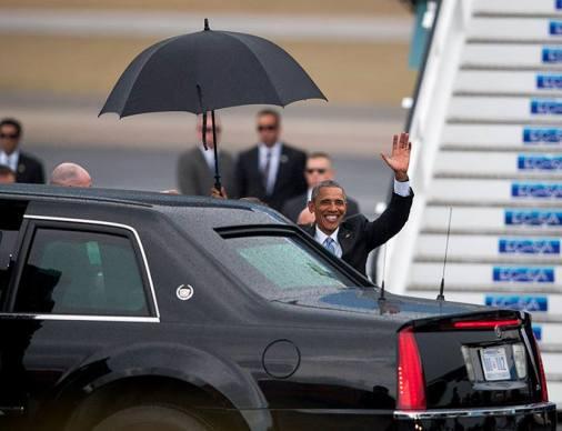 Ya está en #Cuba el presidente @Potus Barack Obama