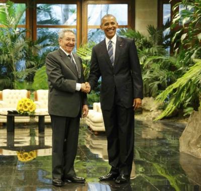 #Cuba Recibió Raúl Castro a Barack Obama, presidente de EE.UU.