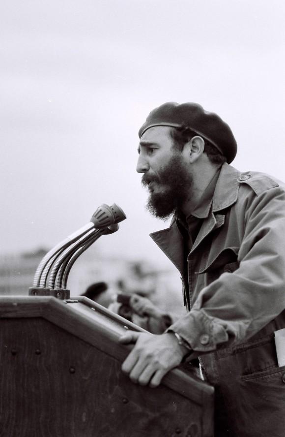 Fidel, durante el discurso