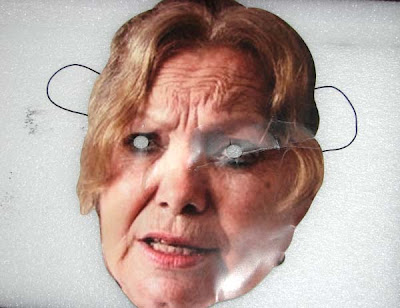 Máscara con el rostro de la fallecida