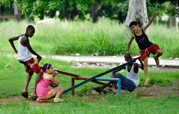 Cuba: niños de vacaciones. Foto: Roberto Suárez