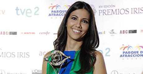 La periodista Ana Pastor posa tras recibir el premio a la mejor presentadora, el pasado mes de mayo.