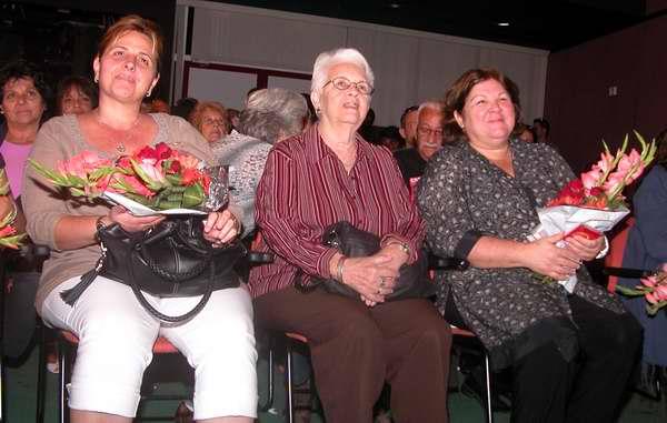 Familiares de los Cinco Héroes y Aleida Guevara, hija de Ernesto Che Guevara en el acto por el 55 Aniversario de Radio Rebelde. Foto Abel Rojas