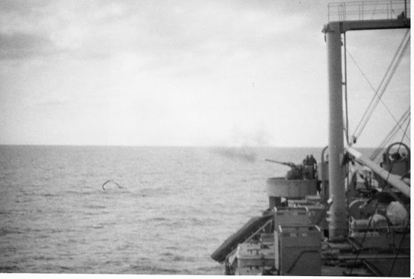 Desde una embarcación mercenaria se divisa la Bahía de Cochinos.