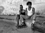Afrodescendientes. La dama y el patinador