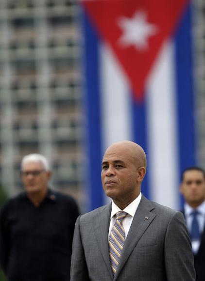 Michel Martelly, presidente de Haití en el Plaza  de la Revolución. Foto: Ismael Francisco/Cubadebate.