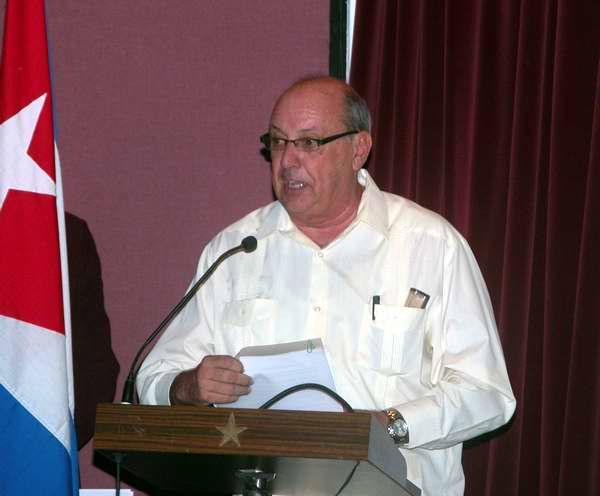 Las palabras centrales estuvieron a cargo de Danilo Sirio, presidente del Instituto Cubano de Radio y Televisión. Foto Abel Rojas
