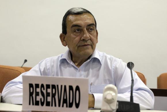 Comandante de las FARC Mauricio Jaramillo. Foto: Ismael Francisco/Cubadebate